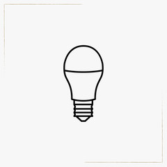 lamp bulb line icon