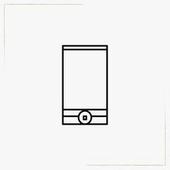 smart phone line icon