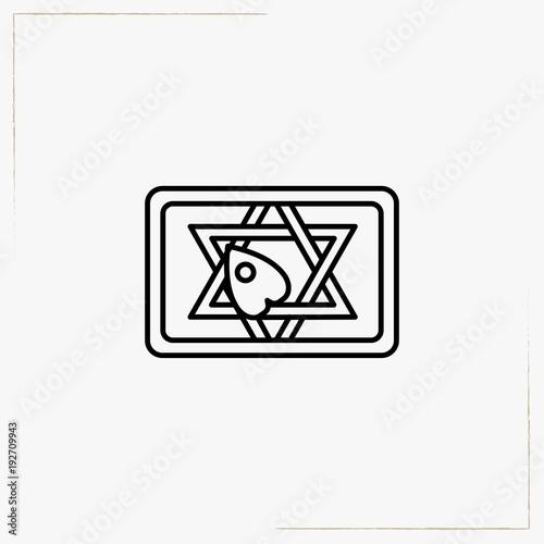 Ouija Board Line Icon