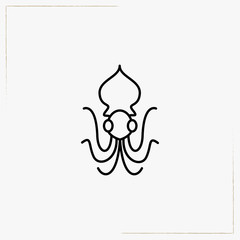 octopus line icon