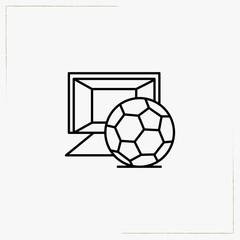 soccer gate line icon