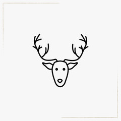 deer line icon