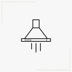 air exhaust line icon