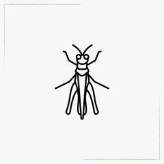 flying ant line icon