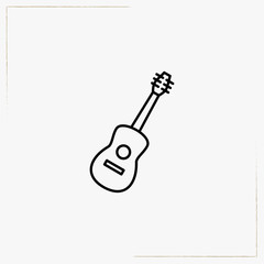 guitar line icon