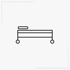 medical bed line icon