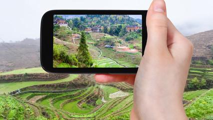 tourist photographs Dazhai village in China