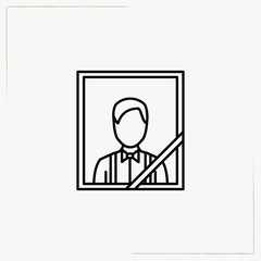 funeral portrait line icon