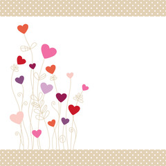 Heartflowers Pinkmix Dots Border