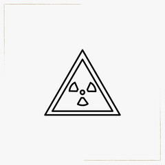 danger radioactive line icon