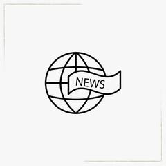 television news line icon