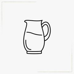 juice jug line icon