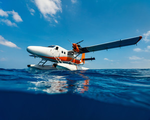 Seaplane on water