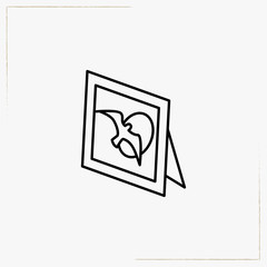 table photo frame line icon