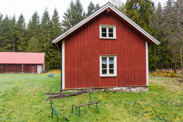 Old Forest Farmstead with garden