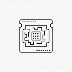 compute board line icon