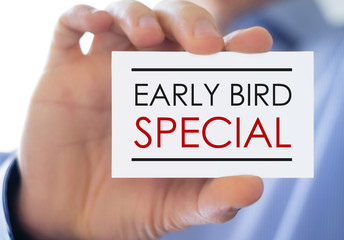 Early Bird Special - marketing concept