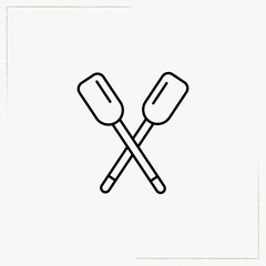 rowing line icon