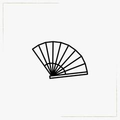 hand fan line icon