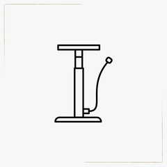 bicycle pump line icon