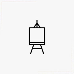 easel line icon