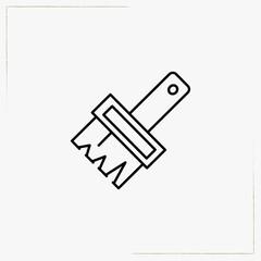 paint brush line icon