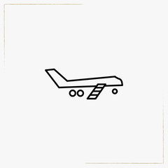 airplane escalator line icon