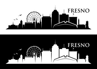 Fresno skyline - California