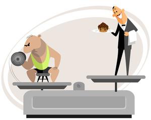 Bodybuilder and his temptation