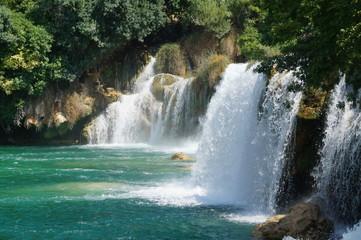 Printed roller blinds Waterfalls parc, national, krka, Croatie, beauté, cascades, ravières, paysages