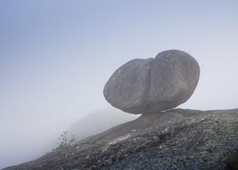 Wonder of Nature. Hanging Stone Kjeragbolten