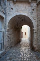 Fototapeta street of old Croatian town Trogir