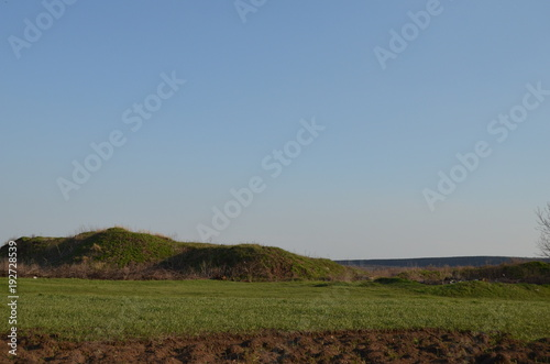 bfa257ecc1d8a sky, landscape, field, grass, nature, meadow, green, summer, blue, cloud,  clouds, rural, agriculture, farm, tree, horizon, countryside, hill,  panorama, ...