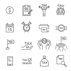 tax icon silhouette vector
