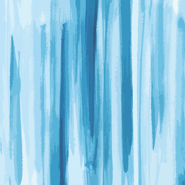 blue watercolor texture background, striped, hand painted vector illustration