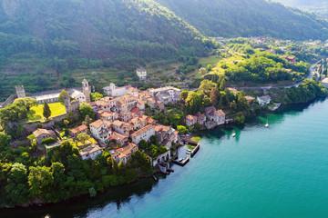 Corenno Plinio - Lago di Como (IT) - Vista Aerea del borgo