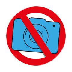 Fotografieren verboten, Filmverbot - Vektor Illustration freigestellt auf weißem Hintergrund