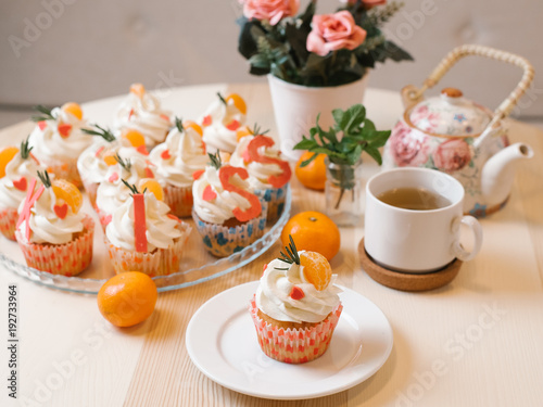 Stock Chocolate Pastry Coffee Flowers Images
