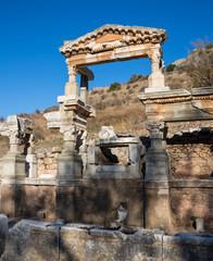 Selcuk, Izmir - Turkey. 25 November 2014. Celsus Library. The Ancient City of Ephesus in Selcuk, Izmir - Turkey
