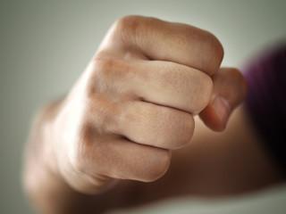 Male Fist Punch Aggressive Hit Closeup Photo