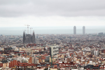 Keuken foto achterwand Milan A panoramic view of Barcelona from Guell Park