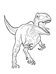 realistic dinosaur illustration cartoon drawing