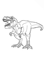 realistic dinosaur illustration cartoon drawing