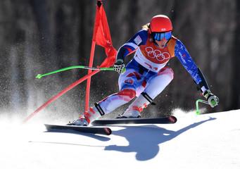 Olympics: Alpine Skiing-Womens Super-G