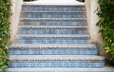 Spanish tiled steps