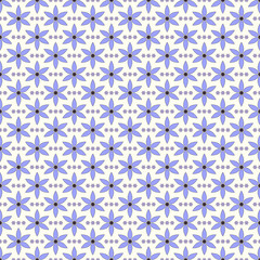 Blue purple flowers pattern