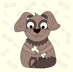 an illustration of a cartoon dog