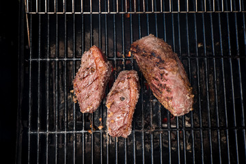 brazilian barbecue bbq on charcoal