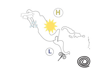 Mexico and Central America weather forecast map 10