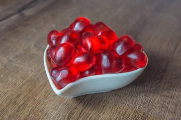 Rote Fruchtgummiherzen
